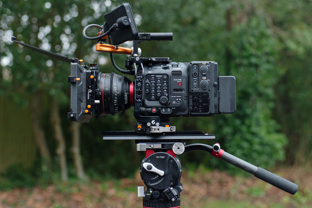 The full Left Field cage for the Canon EOS C500 Mark II